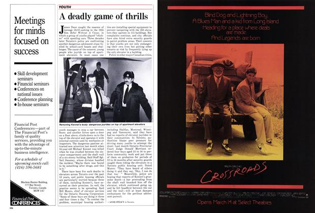 Article Preview: A deadly game of thrills, March 1986 | Maclean's