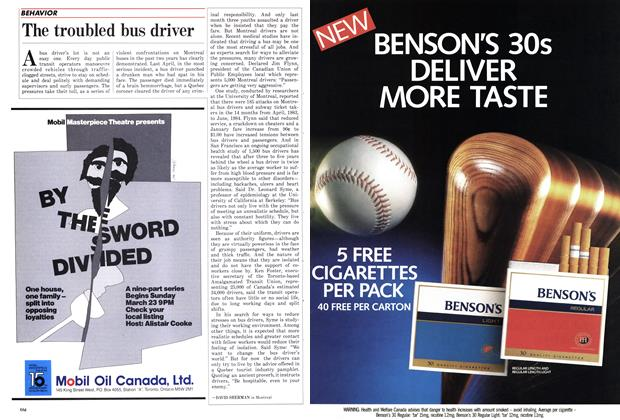 Article Preview: The troubled bus driver, March 1986 | Maclean's