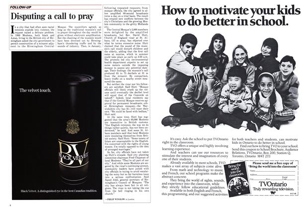 Article Preview: Disputing a call to pray, March 1986 | Maclean's