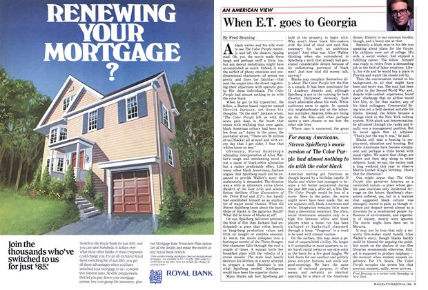 Article Preview: When E.T. goes to Georgia, March 1986 | Maclean's