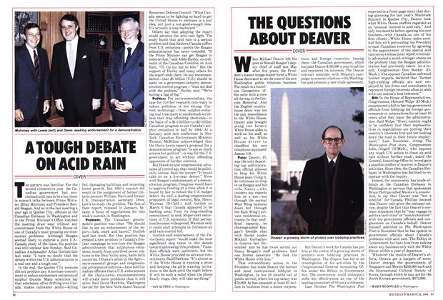 Article Preview: THE QUESTIONS ABOUT DEAVER, March 1986 | Maclean's