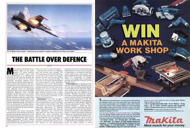 Article Preview: THE BATTLE OVER DEFENCE, March 1986 | Maclean's