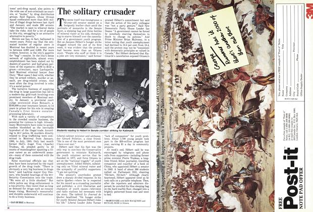 Article Preview: The solitary crusader, March 1986 | Maclean's