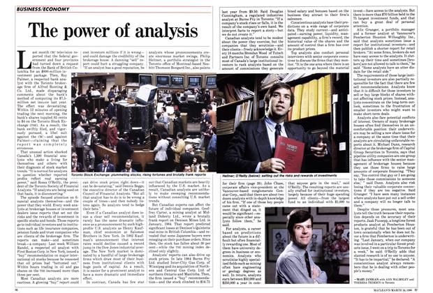 Article Preview: The power of analysis, March 1986 | Maclean's