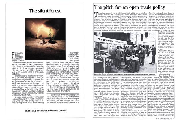 Article Preview: The pitch for an open trade policy, March 1986 | Maclean's