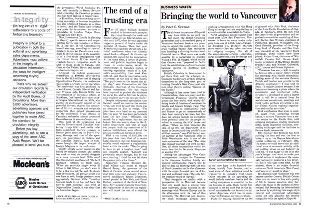 Article Preview: The end of a trusting era, March 1986 | Maclean's
