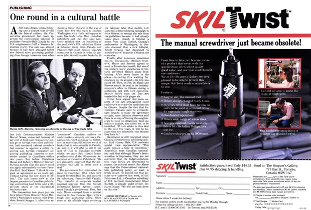 Article Preview: One round in a cultural battle, March 1986 | Maclean's