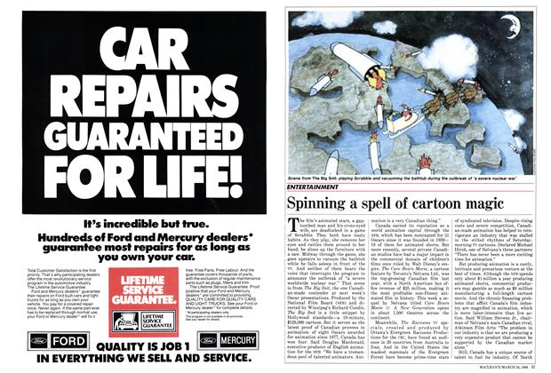 Article Preview: Spinning a spell of cartoon magic, March 1986 | Maclean's