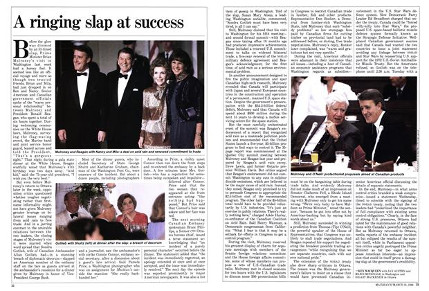 Article Preview: A ringing slap at success, March 1986 | Maclean's