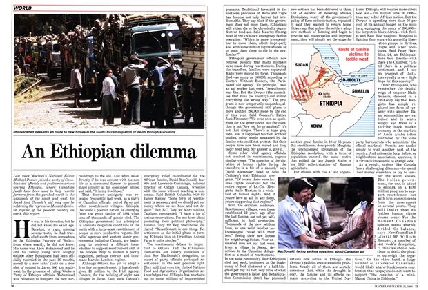 Article Preview: An Ethiopian dilemma, March 1986 | Maclean's