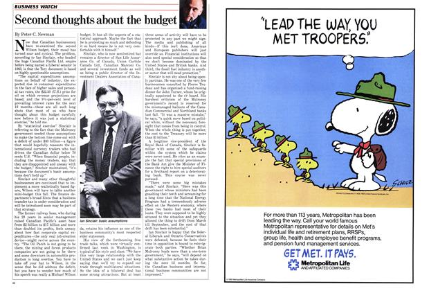 Article Preview: Second thoughts about the budget, March 1986 | Maclean's