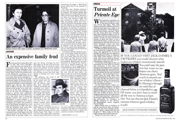 Article Preview: An expensive family feud, March 1986 | Maclean's