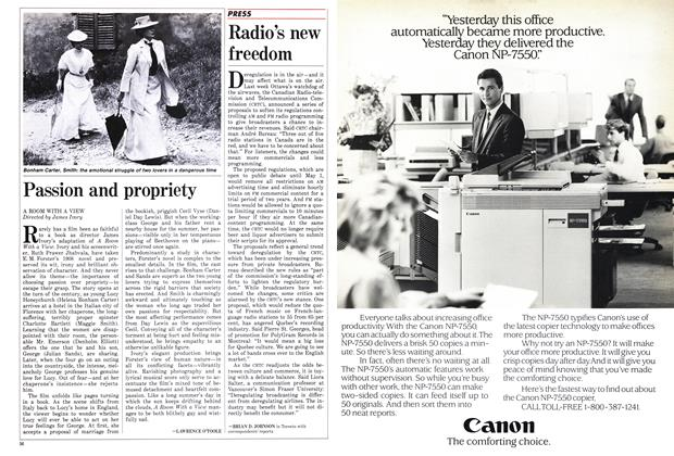 Article Preview: Radio's new freedom, March 1986 | Maclean's