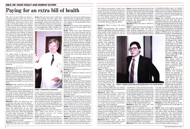 Article Preview: Paying for an extra bill of health, March 1986 | Maclean's