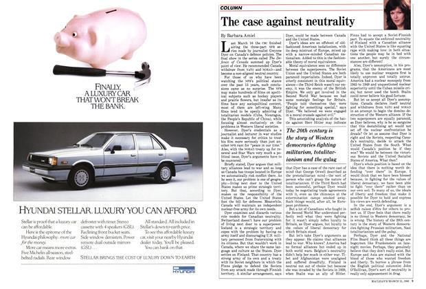 Article Preview: The case against neutrality, March 1986 | Maclean's