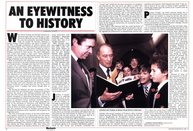 Article Preview: AN EYEWITNESS TO HISTORY, March 1986 | Maclean's