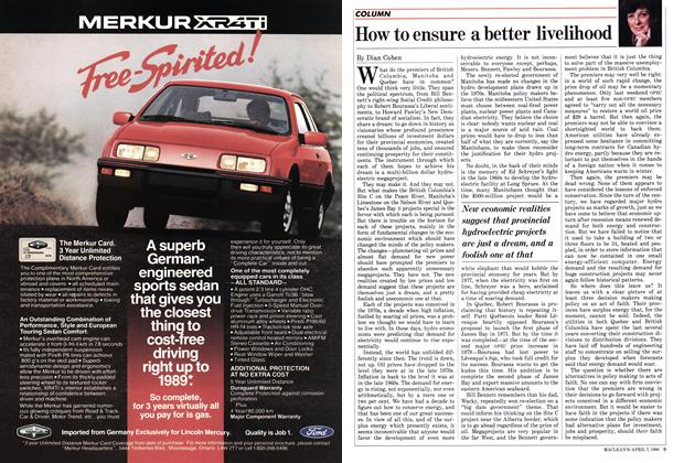 Article Preview: How to ensure a better livelihood, April 1986 | Maclean's