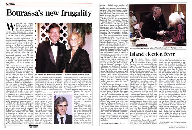 Article Preview: Bourassa's new frugality, April 1986 | Maclean's