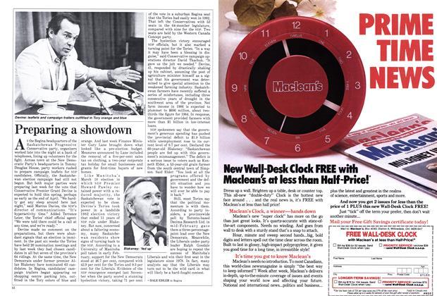 Article Preview: Preparing a showdown, April 1986   Maclean's