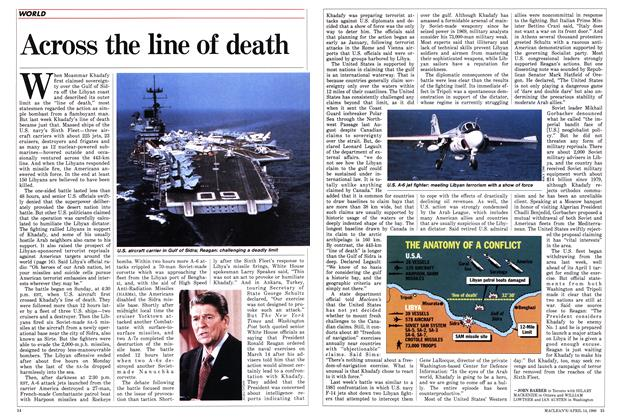 Article Preview: Across the line of death, April 1986 | Maclean's