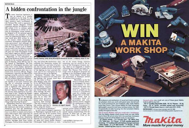 Article Preview: A hidden confrontation in the jungle, April 1986 | Maclean's