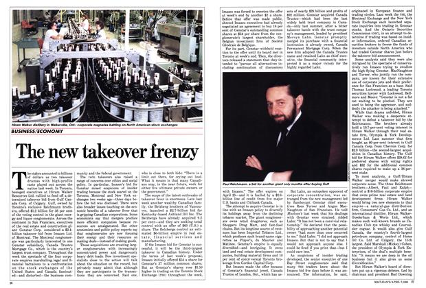 Article Preview: The new takeover frenzy, April 1986 | Maclean's
