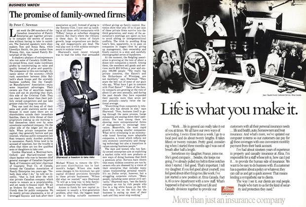 Article Preview: The promise of family-owned firms, April 1986 | Maclean's