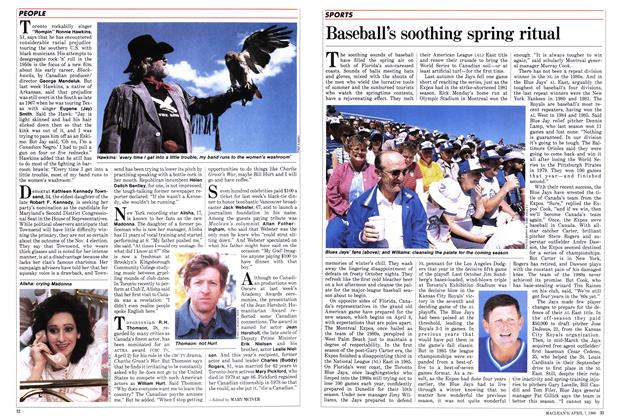 Article Preview: Baseball's soothing spring ritual, April 1986 | Maclean's