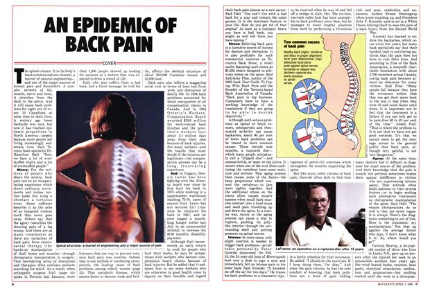 Article Preview: AN EPIDEMIC OF BACK PAIN, April 1986 | Maclean's