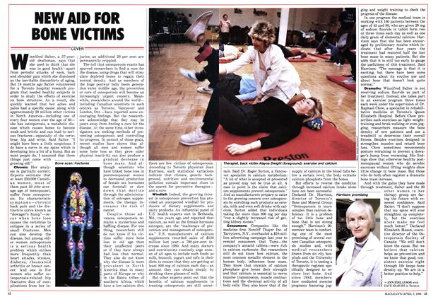Article Preview: NEW AID FOR BONE VICTIMS, April 1986 | Maclean's