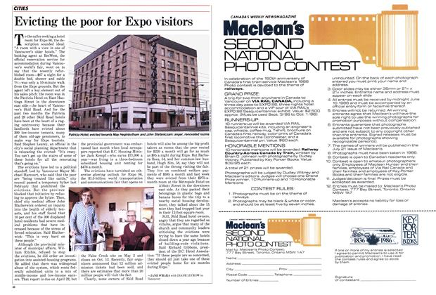 Article Preview: Evicting the poor for Expo visitors, April 1986 | Maclean's