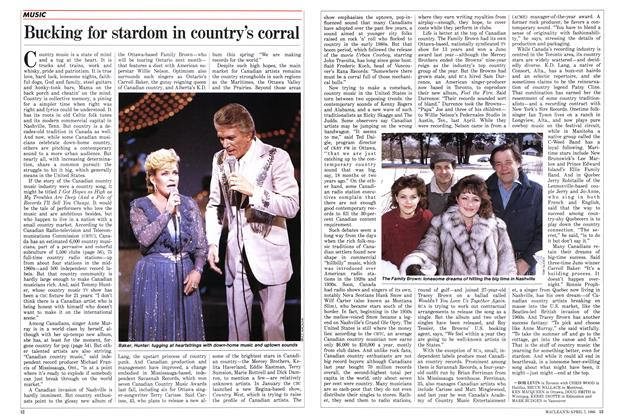 Article Preview: Bucking for stardom in country's corral, April 1986 | Maclean's