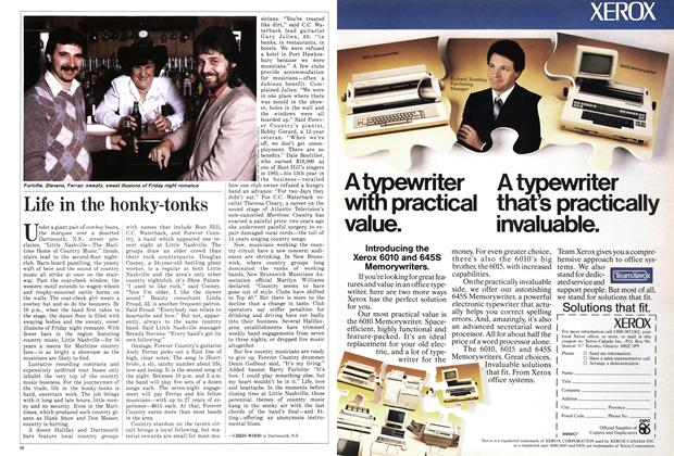 Article Preview: Life in the honky-tonks, April 1986 | Maclean's