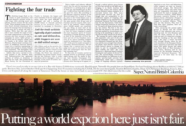Article Preview: Fighting the fur trade, April 1986 | Maclean's