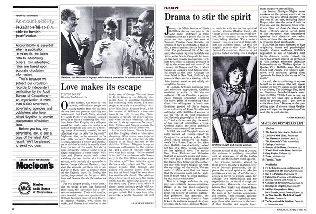 Article Preview: Drama to stir the spirit, April 1986 | Maclean's