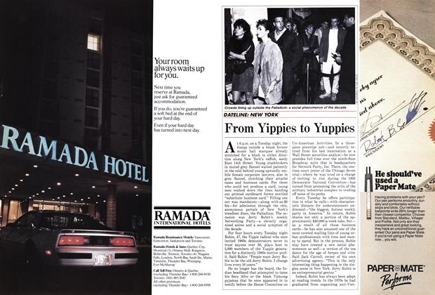 Article Preview: From Yippies to Yuppies, April 1986 | Maclean's