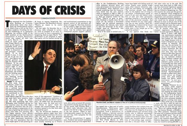 Article Preview: DAYS OF CRISIS, April 1986 | Maclean's