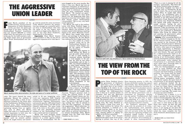 Article Preview: THE VIEW FROM THE TOP OF THE ROCK, April 1986 | Maclean's