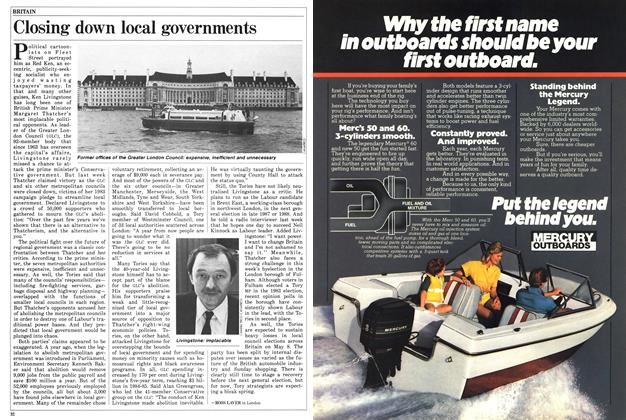 Article Preview: Closing down local governments, April 1986 | Maclean's