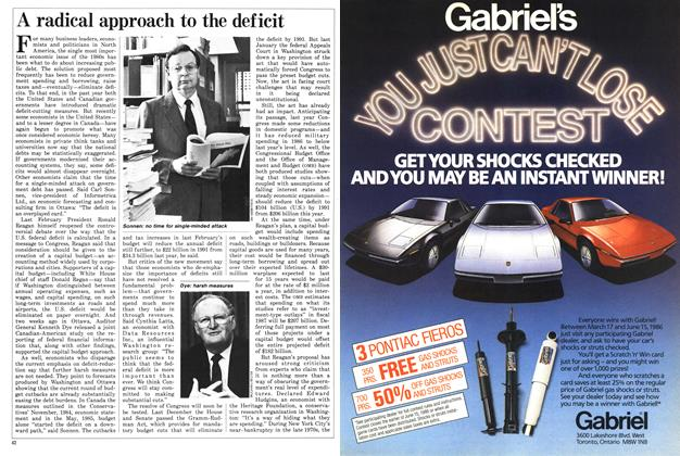 Article Preview: A radical approach to the deficit, April 1986 | Maclean's