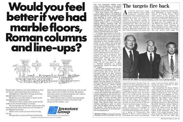 Article Preview: The targets fire back, April 1986 | Maclean's