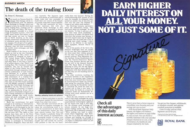 Article Preview: The death of the trading floor, April 1986 | Maclean's