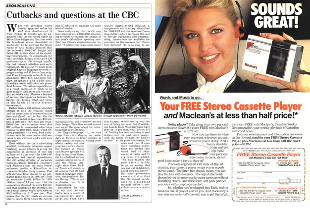 Article Preview: Cutbacks and questions at the CBC, April 1986 | Maclean's