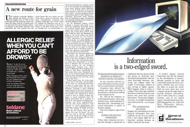 Article Preview: A new route for grain, April 1986 | Maclean's