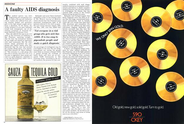 Article Preview: A faulty AIDS diagnosis, April 1986 | Maclean's