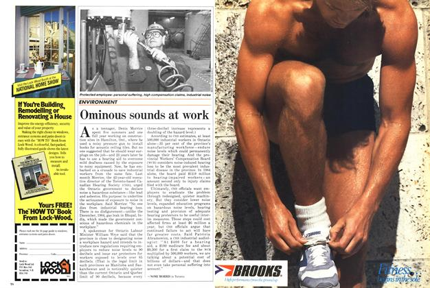 Article Preview: Ominous sounds at work, April 1986 | Maclean's