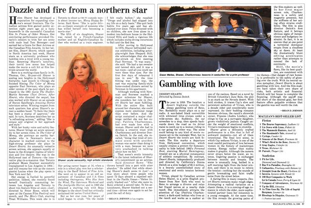 Article Preview: Dazzle and fire from a northern star, April 1986 | Maclean's