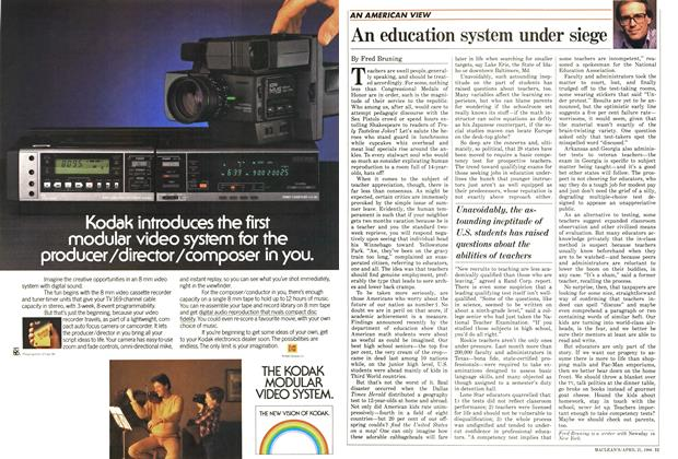Article Preview: An education system under siege, April 1986 | Maclean's