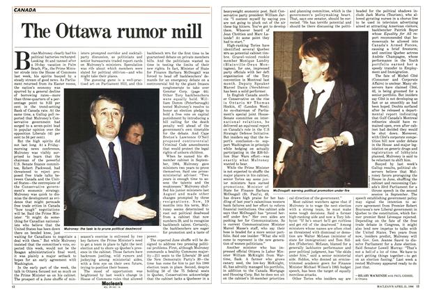 Article Preview: The Ottawa rumor mill, April 1986 | Maclean's