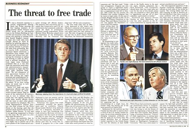 Article Preview: The threat to free trade, April 1986 | Maclean's